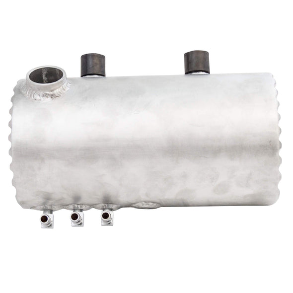 Aluminum Oil Tank With Finned Ends - Raw Finish - for Harley-Davidson Choppers