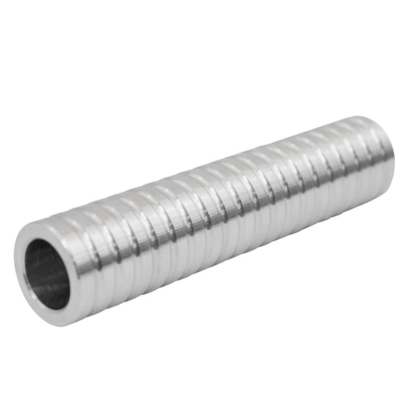 Ribbed Axle Spacer Stock - Aluminum - 5 inch - 3/4 inch I.D.
