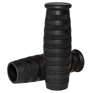 Knurled Grips - Black - 1 inch