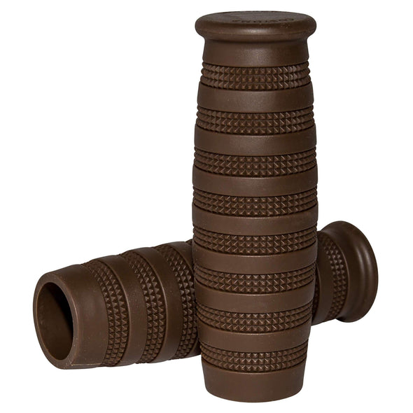Knurled Grips - Chocolate Brown - 1 inch