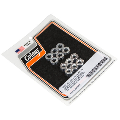 #8111-12 1/4-24 Hex Nut CAD Plated 6 pack