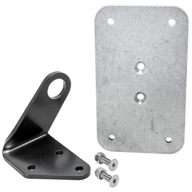 Axle Mount License Plate Bracket - 1 inch (25mm) Axles - Vertical or Horizontal