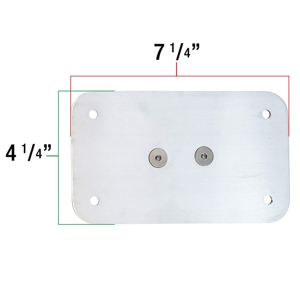 Axle Mount License Plate Bracket - 3/4 inch Axles - Vertical or Horizontal
