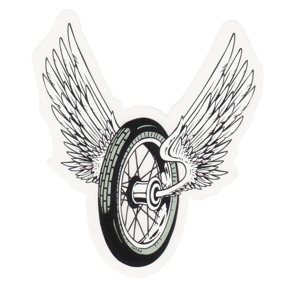 Winged Wheel Sticker - Small