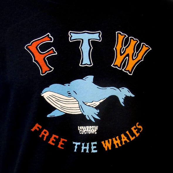 Free The Whales Kids T-Shirt