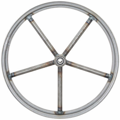 Invader 21 x 2.15 Spool Hub Front Wheel - Raw Steel