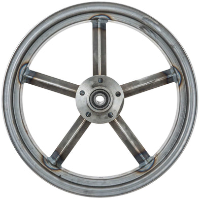 Invader 16 x 3.5 Dual Flange Rear Wheel - Raw Steel