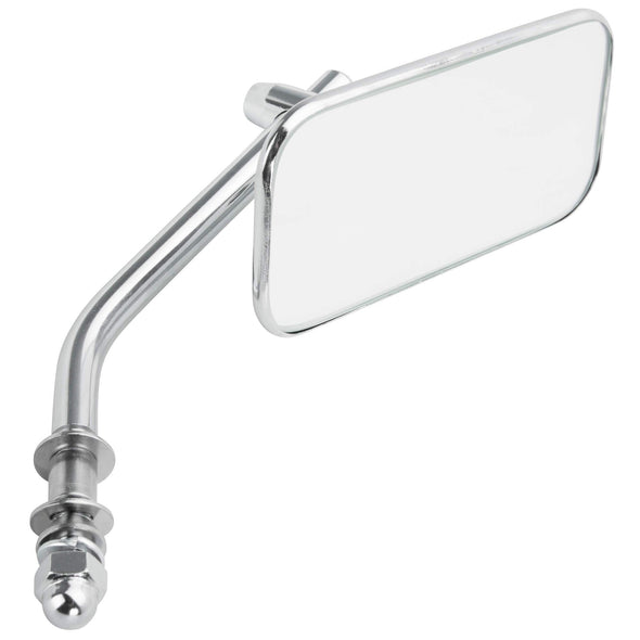 Rectangular Motorcycle Mirror - Perch Mount - Chrome
