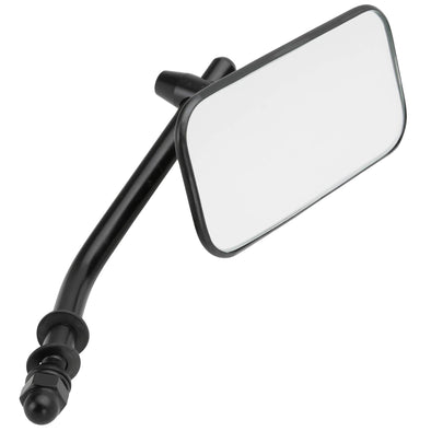 Rectangular Motorcycle Mirror - Perch Mount - Black