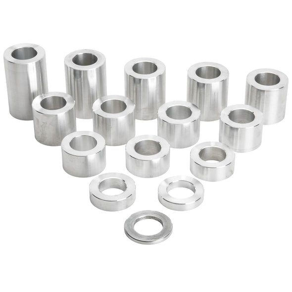 14 Piece Aluminum Wheel Axle Spacer Kit - 1.25 inch O.D. x 3/4 inch I.D.