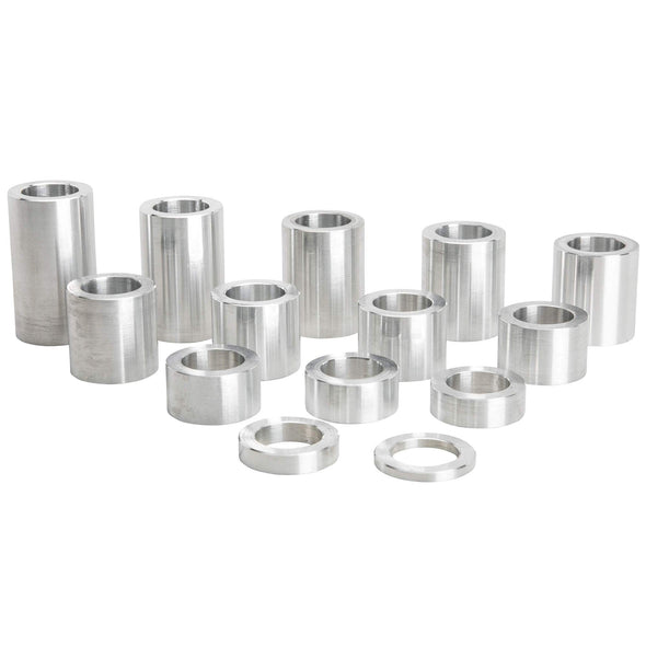 14 Piece Aluminum Wheel Axle Spacer Kit - 1.125 inch O.D. x 3/4 inch I.D.