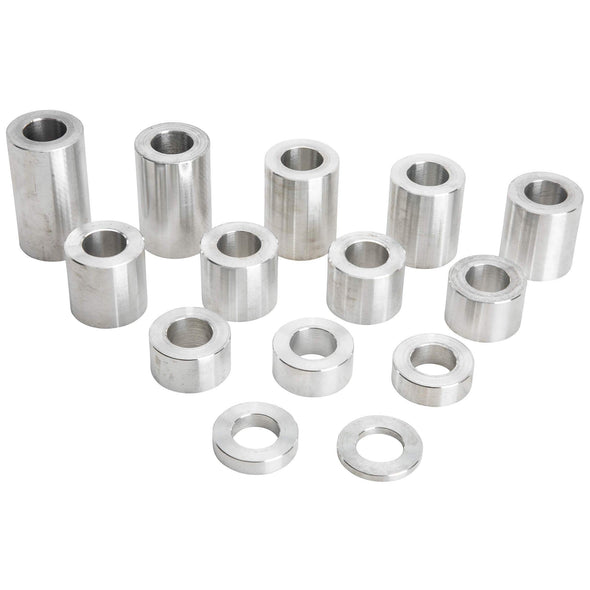 14 Piece Aluminum Wheel Axle Spacer Kit - 1.125 inch O.D. x 5/8 inch I.D.