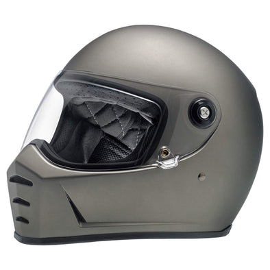 Lane Splitter DOT/ECE Approved Full Face Helmet - Flat Titanium