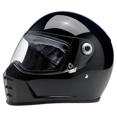 Lane Splitter DOT/ECE Approved Full Face Helmet - Gloss Black
