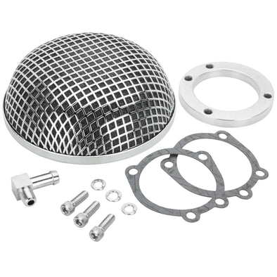 Mesh Air Cleaner - Chrome - Harley-Davidson CV Carb Sportster and Big Twin