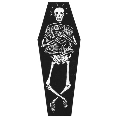 Die Stoked Coffin Sticker