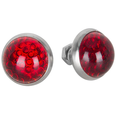 Glass License Plate Reflectors - Red