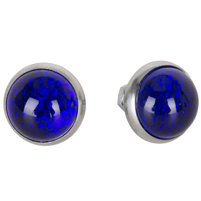 Glass License Plate Reflectors - Blue