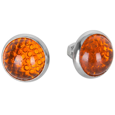 Glass License Plate Reflectors - Amber