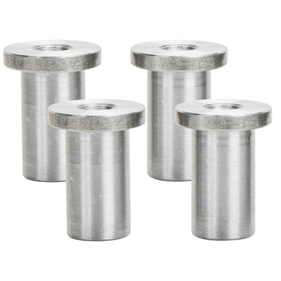 Tophat Blind Threaded Steel Bung 1/4-20 Thread - 4 pack