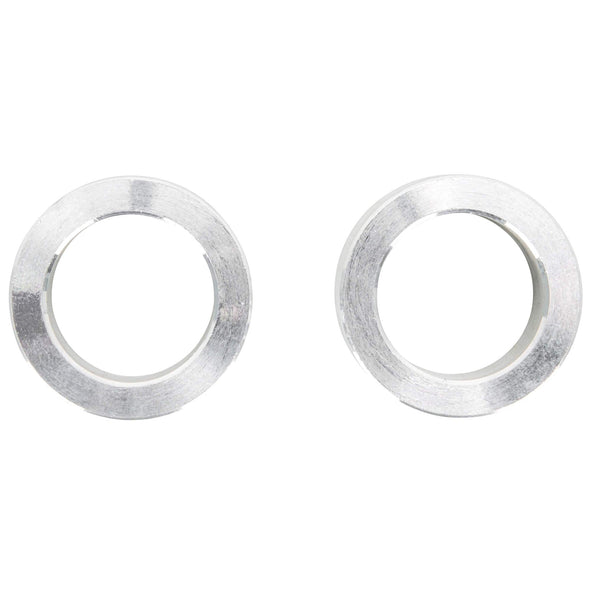 3/4 inch ID x 1/2 inch Long Aluminum Motorcycle Wheel Axle Spacers - Pair