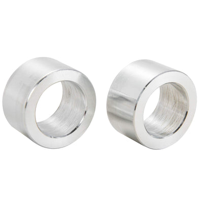 3/4 inch ID x 5/8 inch Long Aluminum Motorcycle Wheel Axle Spacers - Pair