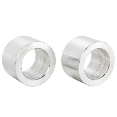 3/4 inch ID x 3/4 inch Long Aluminum Motorcycle Wheel Axle Spacers - Pair