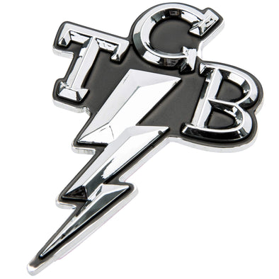 TCB Takin' Care of Business Chrome Stick-On 3D Emblem