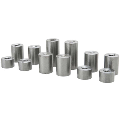 12 piece Threaded Steel Bung Assortment