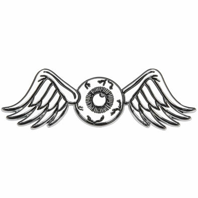 Flying Eyeball Chrome Stick-On 3D Emblem