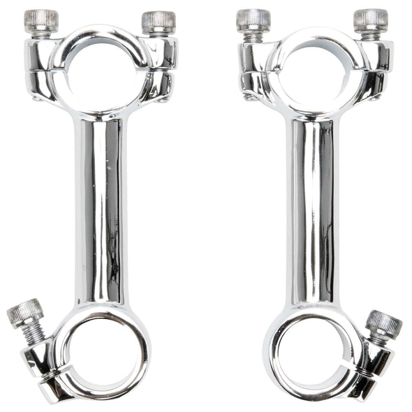 4 inch Dog Bone Riser Set - Chrome