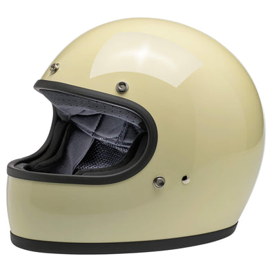 Gringo DOT/ECE Approved Full Face Helmet - Gloss Vintage White