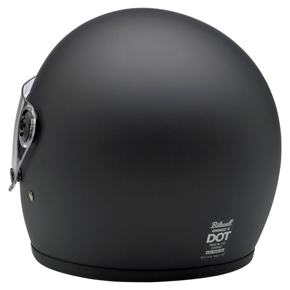 Gringo S DOT/ECE Approved Full Face Helmet - Flat Black