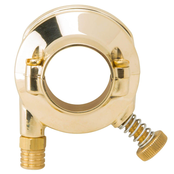 Deluxe Throttle Housing Polished Brass for 1 inch bars