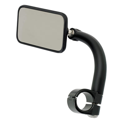 Utility Mirror Rectangle Clamp-on Mount - 1 inch Handlebars - Black