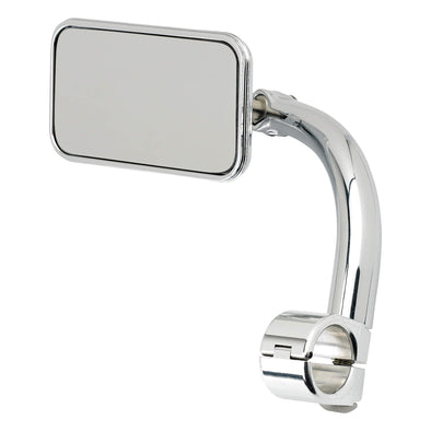 Utility Mirror Rectangle Clamp-on Mount - 7/8 inch Handlebars - Chrome