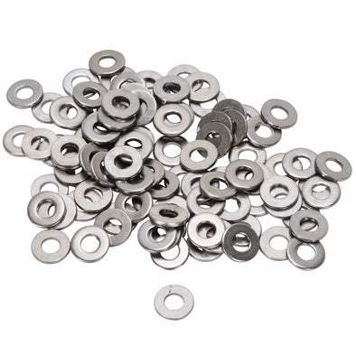 Colony #8-F-100 Chrome Plated Flatwashers  #8 - Bag of 100