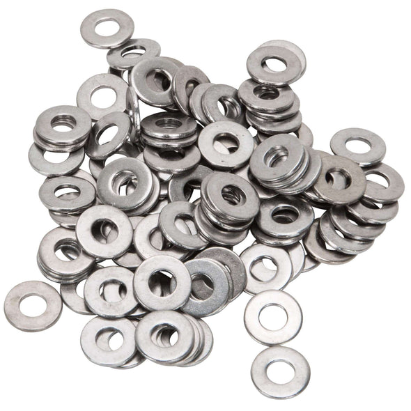 Colony #10-F-100 Chrome Plated Flatwashers  #10 - Bag of 100