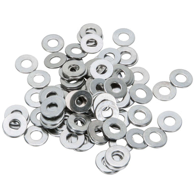 Colony #1/4-F-100 Chrome Plated Flatwashers 1/4 inch - Bag 0f 100