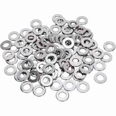 Colony #3/8-F-100 Chrome Plated Flatwashers 3/8 inch - Bag of 100