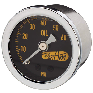 Oil Pressure Gauge 0-60 psi - Chrome