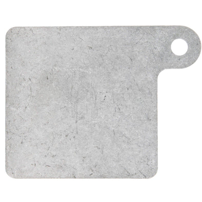 Motorcycle Inspection Sticker Mounting Plate 3.5 x 3.5 inches - Tumbled Aluminum