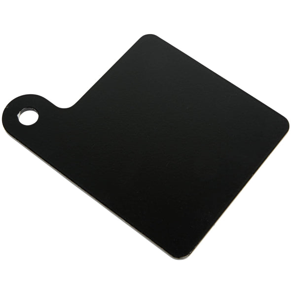 Motorcycle Inspection Sticker Mounting Plate 3.5 x 3.5 inches - Black Aluminum
