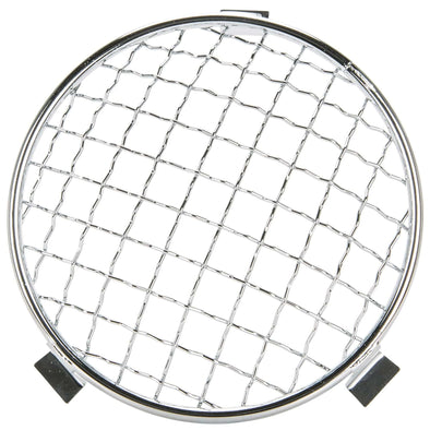 Baja 5-3/4 inch Headlight Mesh Grill Stoneguard - Chrome
