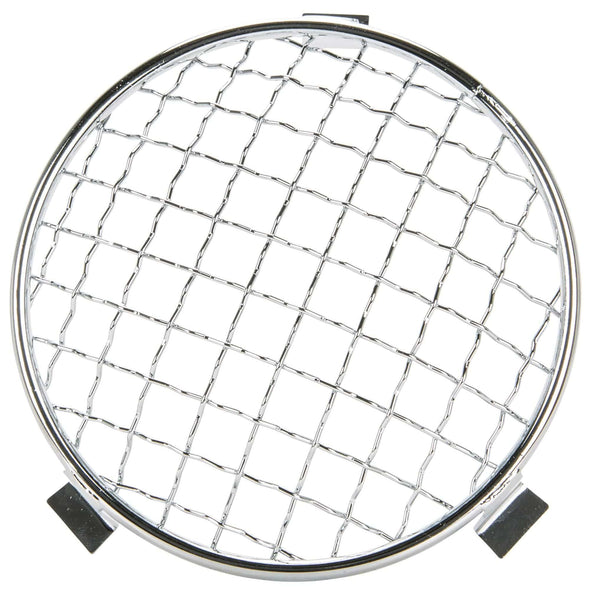 Baja Headlight Mesh Grill Stoneguard - Chrome