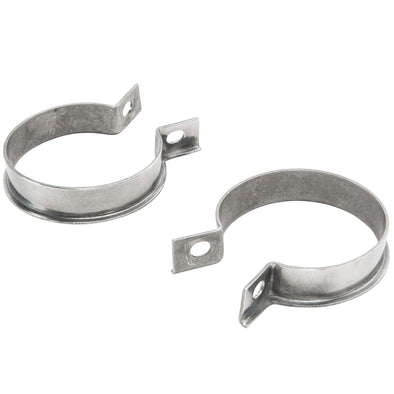 Exhaust Port Clamps 1948-1965 Harley-Davidson Big Twin Models - Stainless Steel OEM # 65519-48