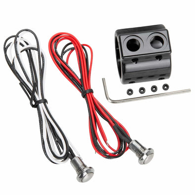 Prime 1 inch Handlebar Switch Kit - Dual Mini Switch - Black