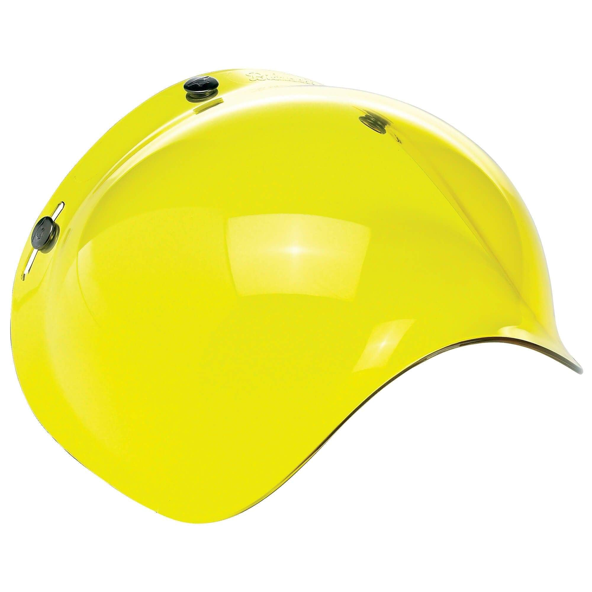 Biltwell Anti-Fog Bubble 3-Snap Shield Yellow