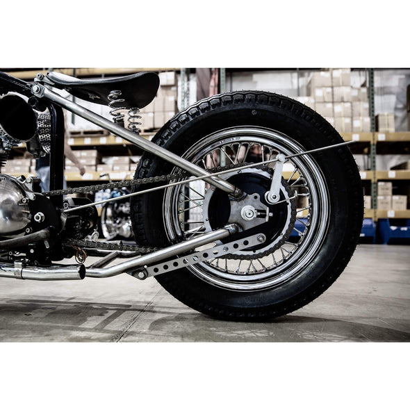 Custom Rear Brake Stay Strap for Triumph Motorcycles - Tumbled Stainless