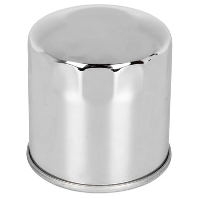 Oil Filter for Harley-Davidson XL FXR Softail Touring Models and Buell - Chrome - OEM#  63805-80A 63796-77A